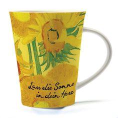 Schöne #Porzellantasse mit #Sonnenblumen -Motiv von Vincent #VanGogh
