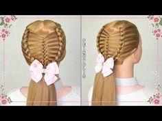 Peinados con Coletas para Niñas - Trenzas Faciles y Rapidas - YouTube Cute Hairstyles, Braided Hairstyles, Easy Hairstyle, Basket Braid, Hair Today Gone Tomorrow, Hair Care Tips, About Hair, Braid Styles, Healthy Hair