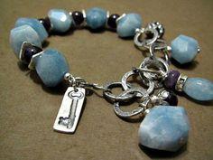Artisan Bracelet Aquamarine Amethyst by ThePrivateCollection