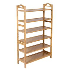SONGMICS Bamboo 6-Tier Shoe Rack Entryway Shoe Shelf Storage Organizer ULBS26N