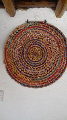 tissu de jute tapis rond Jarapa