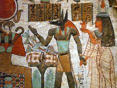 early egyptian civilization - Google Search. The garment the man with the Animal face is wearing looks simaler to the garment the Royal Egyptaun boy would wear. The Royal boy would wear a Corselt with a Draped skirt. The women next to the animal man is from the New Kingdom because of the Draped Gown that looks to be Sheer!