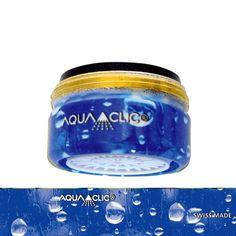 Spart bis zu 50% Wasser und Energie am Wasserhahn: AquaClic MINI Le Petit Bleu aus Messing. Gesehen für € 19,95 bei kloundco.de.
