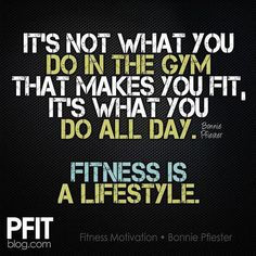 It's not what you do in the gym that makes you fit, it's what you do all day. Fitness is a lifestyle. Yeah baby, this is totally  #WildlyAlive! #selflove #fitness #health #nutrition #weight #loss LEARN MORE →  www.WildlyAliveWeightLoss.com