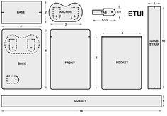 ETUIBAG  free sewing pattern tutorial - pattern drafting