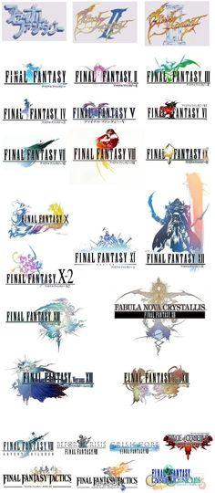 logo history of final fantasy