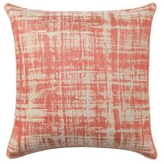 Winter, summer, casual or dressy, this versatile pillow brings a rich, textural element to any space in every season. Jacquard woven of European linen. In addition to the pleasant pops of color, the pillow is finished with linen piping; a hidden-zip closure, and feather-down insert included. Linen/Cotton/polyester. Imported.  Care Instructions: Dry clean only or machine wash, gentle cycle, do not bleach and line dry.