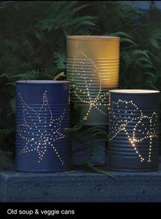 Great garden candle idea