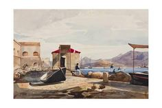 Giclee Print: The Port at Gaeta by Giacinto Gigante : 24x16in