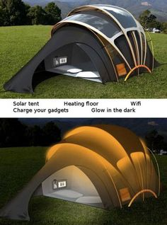 OOOOH, This is the Ultimate High-Tech Tent for Geeks - TechEBlog EVERYTHING BUT THE KITCHEN SINK (TAG: ARTICLE; CAMPING GEAR. SOLAR)