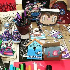awesome day demoing Posca @uni_posca @poscagallery @posca_uk at @hobbycrafthq #misswah #hobbycraft ...