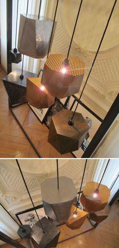 Lampshades collection by Olivier MARESCAUX www.oliviermarescaux.com #lampshades #light #architecture #furnitures #handmade #metalwork #oliviermarescaux