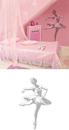 ballerina shadow wall decals -- cute idea for my ballerina's room