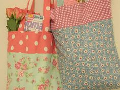 Watch our sewing tutorial for how to make a tote bag, it's ideal to use as a shopping tote and reversible too!