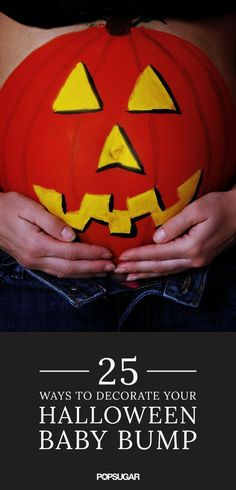 Painted-Belly Halloween Ideas For Pregnant Women | POPSUGAR Moms