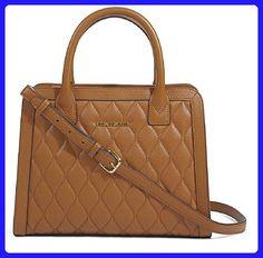 Vera Bradley Quilted Natalie Satchel Crossbody Handbag in Cognac Brown Sycamore Leather Collection - Top handle bags (*Amazon Partner-Link)