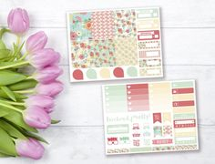 Blooming mini weekly stickers kit  Erin by PrettyCraftyStickers