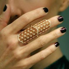 """Semiramis"" Diamond Full Finger Ring - Plukka - Shop Fine Jewelry Online"