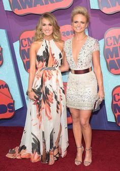 Carrie Underwood and Miranda Lambert at the CMT Awards