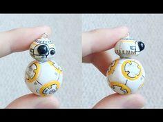 Star Wars Sphero BB-8 polymer clay charm tutorial