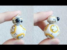 Star Wars Sphero BB-8 Polymer Clay Charm | Oh my gosh, this homemade charm is SO CUTE! Who wouldn't want to put BB-8 on a homemade necklace or DIY bracelet?! Perfect for anyone who loves 'The Force Awakens.'