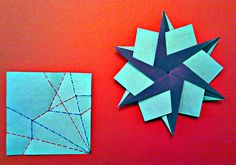 Hans-Werner Guth another six pointed star idea - star, CP 6 x 7.5x7.5cm duocolor paper http://www.flickr.com/photos/hwguth/9111388152/in/photostream/