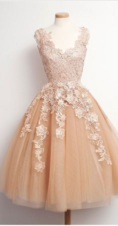 Real Made Graduation Dresses, Knee-Length Graduation Dresses, Tulle and Chiffon Homecoming Dresses, Homecoming Dress, Homecoming Dress On Sale