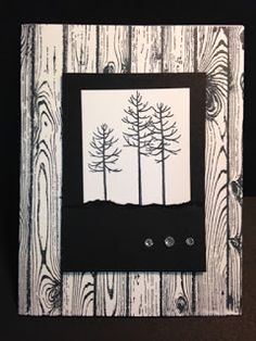 Thoughtful Branches, Hardwood Background, Masculine Card,  Stamp a Stack, Stampin' Up!, Rubber Stamping, Handmade Cards