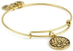 """Alex and Ani Bangle Bar """"Lotus Peace Petals"""" Russian-Gold Expandable Bracelet - http://www.wonderfulworldofjewelry.com/jewelry/bracelets/alex-and-ani-bangle-bar-lotus-peace-petals-russiangold-expandable-bracelet-com/ - Your First Choice for Jewelry and Jewellery Accessories"""