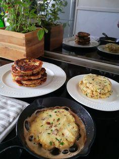 Saaranlautasella: PEKONI-PARMESAN PERUNALETUT Parmesan, Pancakes, Breakfast, Blog, Morning Coffee, Pancake, Blogging, Crepes, Parmigiano Reggiano