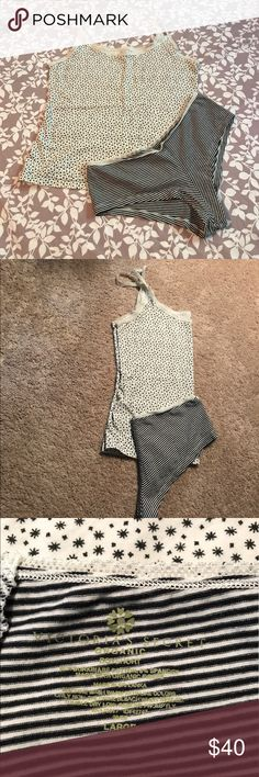 Victoria's Secret Cami and boy short outfit This is Victoria's Secret Organic line. Soooo soft and comfortable but yet sexy to wear. In good condition 🤗 Victoria's Secret Intimates & Sleepwear