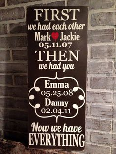 Hand painted Personalized First We had Each Other by designbybecky