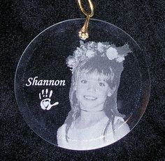 Remember cherished loved ones lost with an etched ornament for your tree.
