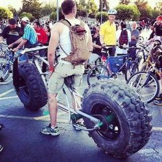 Fat Tire Bike, probably a single speed to boot...