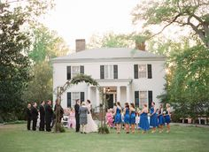 A perfect southern setting #ceremony | Classic Wedding at Primrose Cottage from Buffy Dekmar Photography  Read more - http://www.stylemepretty.com/georgia-weddings/2013/10/25/classic-wedding-at-primrose-cottage-from-buffy-dekmar-photography/