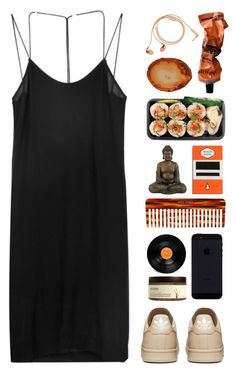 """Untitled #30"" by sherishgurung ❤ liked on Polyvore featuring Dion Lee, Happy Plugs, Aesop, RabLabs, Penguin Group, Mason Pearson and Ahava"