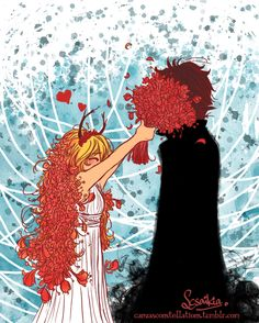 Cress and Thorne as Persephone and Hades