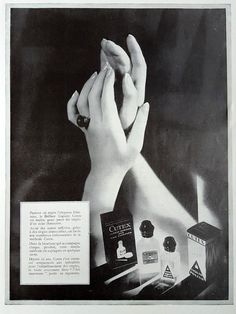 CUTEX vintage poster nail care products ad hand care by OldMag