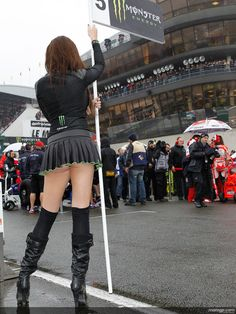 2013 MotoGP: Grid Girl for Marc Marquez Needed - autoevolution Monster Energy Girls, Monster Girl, Grid Girls, Motogp, Promo Girls, Micro Skirt, Umbrella Girl, Marc Marquez, Lingerie