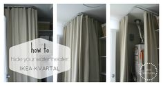 How to hide your water heater: IKEA KVARTAL ceiling mounted series