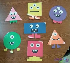 monster classroom theme, shape monsters, bulletin board decorations, monster decor, monster decorations