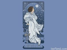 """Leia Nouveau"" by Karen Hallion is $11 today at The Yetee http://www.teefiend.com/1804/leia-nouveau/"