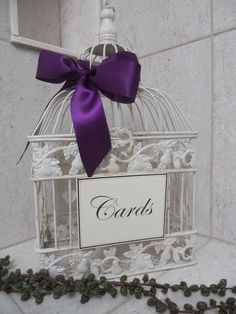 diy shabby ivory birdcage wedding card holder bird cage cardholder wedding decoration