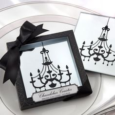 Chandelier Mirrored Coasters Wedding Favor - Set of 2 | #exclusivelyweddings    More Wedding Favors at: www.RealWeddingDay.com
