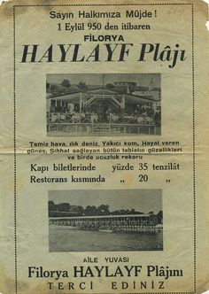 Florya Haylayf plajı 1950.