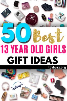 "See the best 13 year old girl gifts for teen girls. Discover COOL and unique gift ideas for Birthdays, Christmas, and other occasions for your 13 year old teen daughter. These EPIC Birthday and Christmas Gifts will have her smiling from ear to ear and ecstatically saying, ""OMG, how did you know what I want?"" Shhh ... your secret is safe with us! Christmas Gifts For Teen Girls, Best Gifts For Girls, Cool Gifts For Kids, Gifts For Teens, Best Birthday Gifts, Birthday Gifts For Women, Creative Gifts, Unique Gifts, Old And Teen"