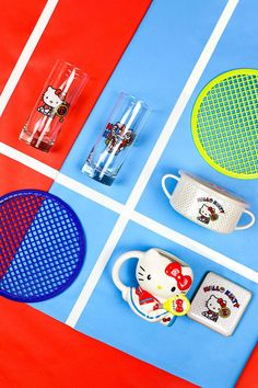 Hello Kitty's feeling sporty this season! Brighten your days with a new collection of water bottles, lunch and bento boxes and other goodies featuring Hello Kitty and her friends playing summer sports like champs. #worldmarket #hellokitty Hello Kitty Collection, Shopping World, Affordable Home Decor, World Market, Bento Box, Brighten Your Day, Water Bottles, Sanrio, Champs