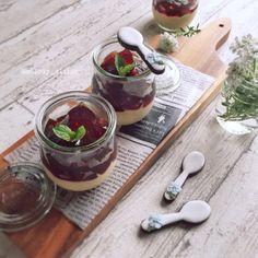 ◆カフェラテのブランマンジェ&コーヒーゼリー◆