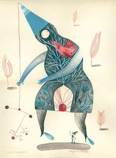 Baba Yaga a El Diluvio Universal. Antique Illustration, Illustration Artists, Character Illustration, Digital Illustration, Baba Yaga, Bio Arte, Africa Art, Medieval Art, Book Design
