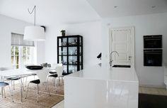 black and white and sisal rug